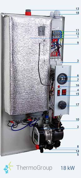 <small> Caldera eléctrica </small> 18 kW